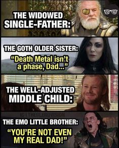 It's interesting because the middle child is usually the most messed up