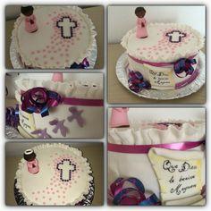 Gateau chocolat baptême  Cake