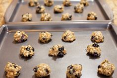 Chewy Oatmeal Blueberry Cookies