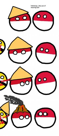 Why Indonesiaball wears hat?