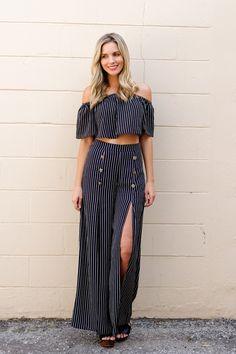 Novana Striped Pant - {a} haley boutique