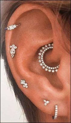 Cute Multiple Ear Piercing Ideas for Cartilage Helix Daith Jewelry Earrings www…. Cute Multiple Ear Piercing Ideas for Cartilage Helix Daith Jewelry Earrings www….,Ohrringe piercing Cute Multiple Ear Piercing Ideas for Cartilage Helix Daith. Innenohr Piercing, Rook Piercing Jewelry, Cute Ear Piercings, Multiple Ear Piercings, Ear Jewelry, Cartilage Earrings, Cute Jewelry, Body Jewelry, Stud Earrings