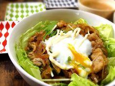 漬け玉ねぎの豚レタス丼。時短レシピ。 : MEG♀ 公式ブログ