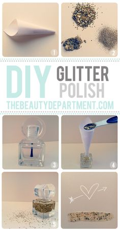 DO IT YOURSELF: gold glitter nail polish
