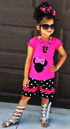 The Minnie Mouse Inspired Hot Pink Polka Dot Outfit