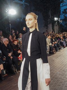 1205 - Designer and #NewGen recipient Paula Gerbase took it back to basics this season, sending ribbed knits and simple, structured tailoring down the Barbican Conservatory housed catwalk. #1205 #Topshop #LFW #AW15 #LondonFashionWeek #1205 #Topshop #LFW #AW15 #LondonFashionWeek