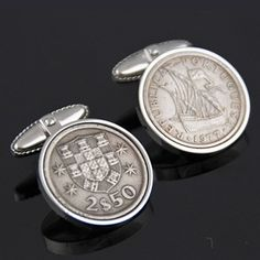 "Thanks for the kind words! ★★★★★ ""My husband has Portuguese ancestry so these are very special to him."" shavesj1 http://etsy.me/2Dabw51 #etsy #accessories #cufflinks #wedding #men #escudos #portugalcufflinks #escudocufflinks #abotoadura #portugesejewelry"