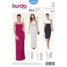 Burda 6939 Women's Evening And Bridal Wear 6 - 18   Spotlight Australia