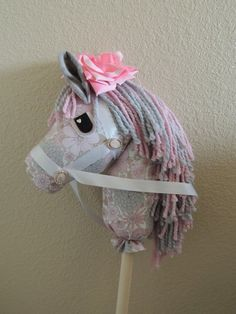 Janelle the Stick Horse by HopelesslyHookedSM on Etsy, $75.00