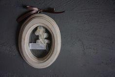 クラシカルシャビーペイントの木のフレームホワイト