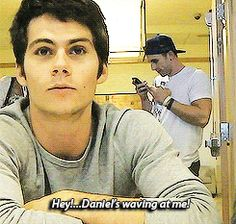 dylan gif Look at him light up!<< he gets distracted so easily its funny and cute at the same time XD
