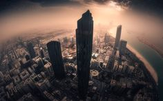Abu Dhabi, UAE, skyscrapers, United Arab Emirates capital, sunset