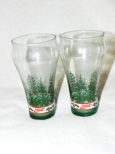 Vintage Coca Cola Winter / Holiday Glasses  by FerryTaleTreasures, $20.00