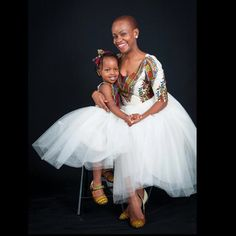 Mother and daughter Dashiki tulle dress by African Babies, African Children, African Women, African Inspired Fashion, African Print Fashion, African Attire, African Wear, African Style, Afro