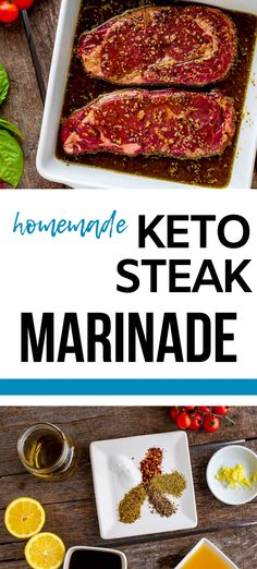 Looking for the best ever Homemade Keto Steak Marinade?  This is it!  You can be sure your grill out will be perfect with the addition of this homemade low carb recipe. This easy recipe works for any cut - it is perfect for flank steak, skirt steak, and even roasts.  It is a crowd pleaser!   #keto #grainfree #glutenfree #grilling #steak Low Carb Summer Recipes, Gluten Free Recipes For Breakfast, Lunch Recipes, Low Carb Recipes, Real Food Recipes, Dinner Recipes, Healthy Recipes, Skirt Steak, Flank Steak