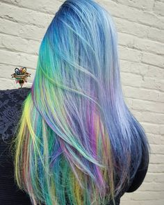 What is your definition of rainbow hair?!  mine is anything with multiple colors that makes you feel like the magical human you are. No rules to rainbow just color and heart #btconeshot #oneshot #btconeshot_rainbow16 #btconeshot_creativecolor16 #behindthechair @behindthechair_com #hairbykaseyoh