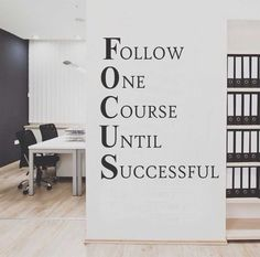 Focus Workplace Definition Motivational Office Decal Vinyl Wall Lettering Wall Quotes