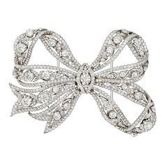 Fashion | Jewellery Antique | Rosamaria G Frangini ||  Belle Epoque Diamond Garland Bow-Pin *** Color Desire SILVER ***