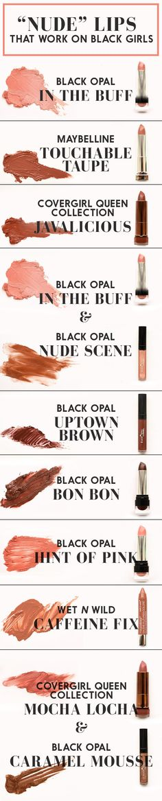 Nude Lipsticks for darker skin tones  #TheChangingFaceOfBeauty
