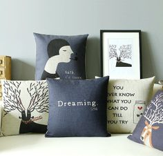 North Euro Style Cushion Cover Blue Pillow Cover by FashionLace, $15.80