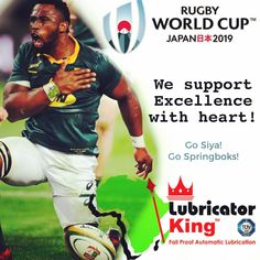 Go all the way 🇿🇦 🏆 Our support is with the this 2019 in are passionate about Excellence with Heart! World Cup Champions, Rugby World Cup, Grease Pump, South Africa Rugby, Philadelphia Eagles Super Bowl, Rugby Players, Champs, African, King