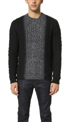 Vince Marled Degrade Crew Neck Sweater