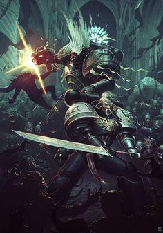 """Uprising"" - art by Nicholas Kay, for Fantasy Flight Games' Deathwatch RPG"