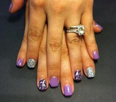 Purple Cheatah Nails