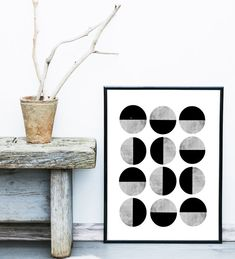 A simple abstract print, like this one by exileprints, will look pretty fab in your minimalist Scandinavian interior. Try placing it on the floor for a relaxed, artistic vibe.