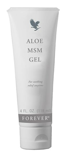 Forever Living - Aloe MSM Gel. MSM stands for Methyl Sulfonyl Methane, and is combined with pure, stabilised aloe vera. This pleasant smelling gel soothes joints and muscles and has a non-staining formula. http://www.rosarivera.flp.com