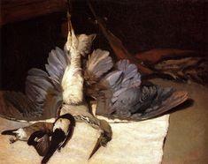Heron with Spread Wings - Alfred Sisley, 1867