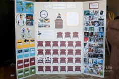 Whoa, this board has all kinds of stuff to keep the kids busy/listening during General Conference