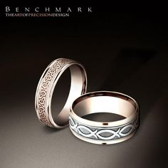 Follow @benchmarkrings to see more content!  #benchmarkretailer #benchmarkwk1  Style #: (Left to right) RECF846358 & CF828347.