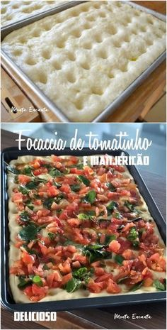 Tomato and basil focaccia in the mixer! Comida Siciliana, Easy Cooking, Cooking Recipes, Vegetarian Recipes, Healthy Recipes, Snacks Für Party, Food Platters, Bruschetta, Food Inspiration