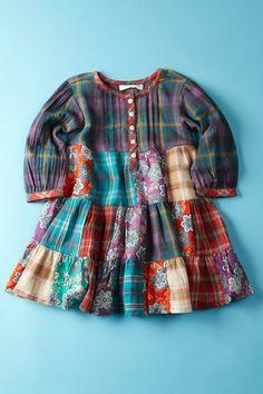 mimi & maggie plaid dress