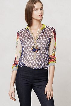 Spring is for light as a feather blouses.  Put those stiff as a board starched button ups in storage.