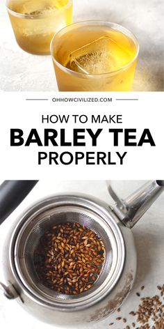 From hot to iced, this guide from Oh, How Civilized is the best guide for brewing Barley tea. Knowing how to properly brew barley tea is the best way to fully enjoy this Korean tea. Grab this guide for the perfect cup of barley tea and enjoy a delicious and refreshing cup of homemade tea today. #tea #barleytea #tearecipe #homemadetea #recipe Korean Tea, Homemade Tea, Tea Sandwiches, Perfect Cup, Tea Recipes, High Tea, Matcha, Afternoon Tea, Brewing