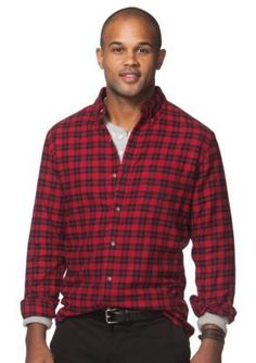 Chaps  NOV LS FLANNEL-CHAPS RED