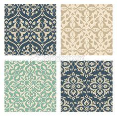 Arabesque Pattern Set Royalty Free Stock Vector Art Illustration