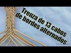 """Trenza de 13 de bordes alternados """"El Rincón del Soguero"""" - YouTube Leather Carving, Weaving Patterns, Knots, Projects To Try, Braids, Personalized Items, Youtube, Sewing, Bracelets"""