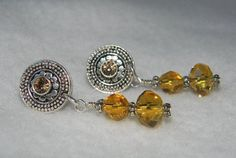 Swarovski Crystal with Colorado Topaz Earrings by jewelrysldesigns, $10.95