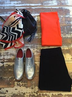 The only way to brighten up your day... #ootd MARC CAIN Scarf / MARC CAIN Jumper / FRAME Denim Crop Trousers / Grenson Shoes Brogues