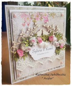 Pretty Cards, Cute Cards, Heartfelt Creations Cards, Mixed Media Cards, Wedding Cards Handmade, Shabby Chic Cards, Engagement Cards, Fancy Fold Cards, Wedding Anniversary Cards