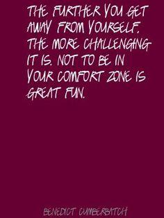 Comfort zone.