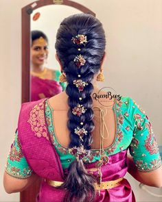 Indian Hairstyles For Saree, South Indian Wedding Hairstyles, Bridal Hairstyle Indian Wedding, Bridal Hairstyle For Reception, Hairstyles For Gowns, South Indian Bride Hairstyle, Bridal Hair Buns, Saree Hairstyles, Bridal Hairdo