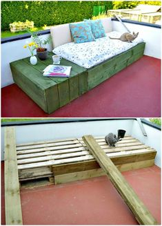 Build Your Own Pallet Patio DayBed - 110 DIY Backyard Ideas to Try Out This Spring & Summer - DIY & Crafts
