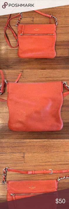 Kate Spade Cobble Hill Crossbody in Orange Kate Spade Cobble Hill crossbody purse in orange. Slightly worn on corners but no jean transfer, clean inside cloth and strap in great condition. kate spade Bags Crossbody Bags