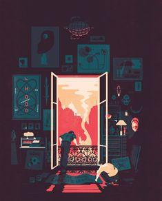 O ilustrador Tom Haugomat mostra que simplicidade é tudo - Designerd
