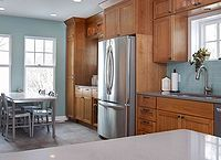 top 5 wall colors for oak cabinets part 2, Source Unknown Try Benjamin Moore Pleasant Valley for a similar look