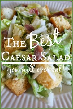 The Best Caesar Salad from StoneGable - Coddled egg or egg substitute and she triples batch of dressing and freezes for future uses.